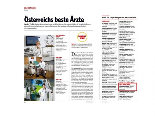 News 10/2013 Die besten HNO Ärzte Österreichs